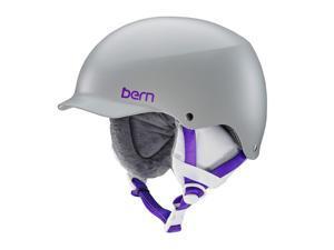 Bern 2016/17 Women's Team Muse EPS Winter Snow Helmet w/Knit Liner (Satin Grey w/ White Liner - M)
