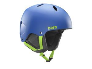 Bern 2016/17 Youth/Teen Diablo Team EPS Thin Shell EPS Winter Snow Helmet (Matte Cobalt Blue w/ Black Liner - L)