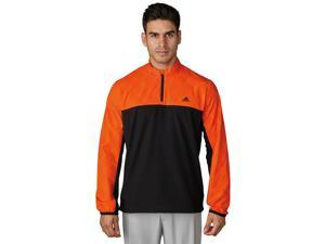 Adidas Golf 2017 Men's Performance Stretch 1/2 Wind Jacket (Unity Orange/Collegiate Navy - 2XL)
