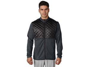 Adidas Golf 2017 Men's ClimaHeat Prime Quilted Full Zip Jacket (Dark Grey Heather/Black - 2XL)