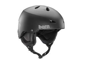 Bern 2016/17 Men's Macon Team EPS Winter Snow Helmet - w/ Earflaps (Matte Black w/ Earflaps  - XL)