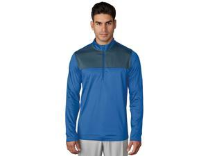 Adidas Golf 2017 Men's ClimaWarm Novelty 1/4 Zip Long Sleeve Layering Sweatshirt (Ray Blue - XL)