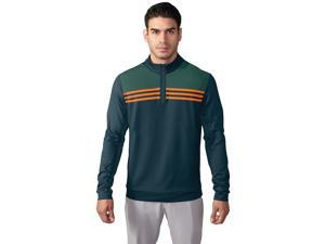 Adidas Golf 2017 Men's ClimaCool Colorblock 1/4 Zip Long Sleeve Layering Top  (Utility Green - S)