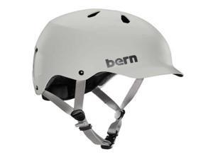 Bern 2015 Mens Watts EPS Summer Bicycle Helmet (Satin Light Grey - S/M)