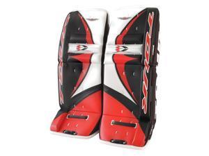 Tour Hockey Youth EVO 6000 Hockey Goalie Leg Pads - G351Y (Black-White-Red - 27 Inch)