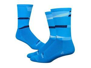 DeFeet Aireator 6inch Ornot Safety Cycling/Running Socks (Safety Process Blue - L)