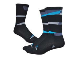 DeFeet Aireator 6inch Ornot Safety Cycling/Running Socks (Safety Black - M)