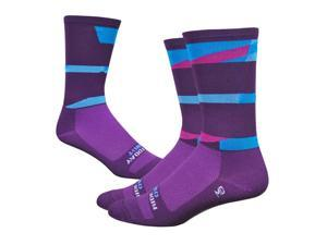 DeFeet Aireator 6inch Ornot Safety Cycling/Running Socks (Safety Plum - L)