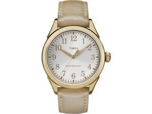 Timex Women's Briarwood Terrace Gold-Tone Strap Silver-Tone Dial - TW2P99300
