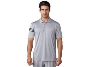 Adidas Golf 2017 Men's ClimaCool 3-Stripes Short Sleeve Polo Shirt (Mid Grey - L)