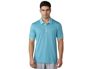Adidas Golf 2017 Men's ClimaChill Tonal Stripe Short Sleeve Polo Shirt (Light Aqua - M)