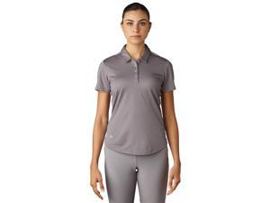 Adidas Golf 2017 Women's MicroDot Short Sleeve Polo Shirt (Trace Grey - M)