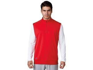 Adidas Golf 2017 Men's Club 1/4 Zip Vest (Scarlet - L)