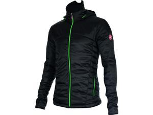 Castelli 2016/17 Men's Meccanico Puffy Casual Track Jacket - X15504 (vintage black/sprint green - M)