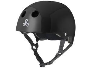 Triple Eight Glossy Multi-Impact Skate Hardhat with Standard Liner  #40;Black - S #41;
