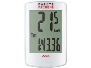 Cateye Padrone Wireless Cycling Computer: White
