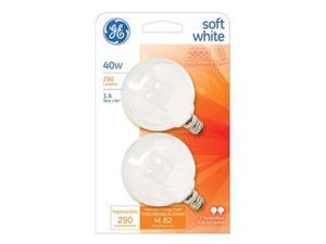 GE2PK40W WHT Globe Bulb, Pack of 6