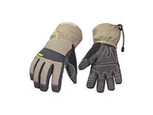 Cold Protection Gloves, Small, Gry/Grn, Pr
