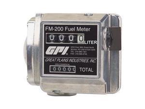Flowmeter, Mechanical, 3/4 In, 15 to 76 LPM