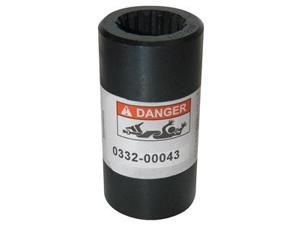 Shaft Coupling, Round Bore, Dia. 7/8 In