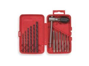 Tap and Drill Bit Set, Electrician, 13 Pcs