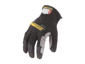 Mechanics Gloves, All Purpose, L, Black, Pr