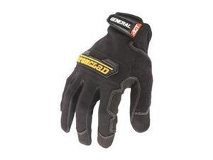 Mechanics Gloves, Construction, S, Black, Pr