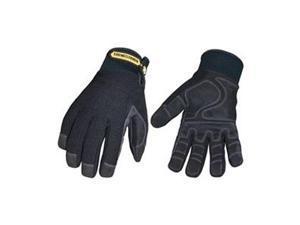 Cold Protection Gloves, 2XL, Black, PR