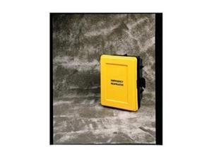 Respirator Wall Case, Black/Yellow