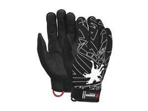 Leather Palm Gloves, Deerskin, L, Pr