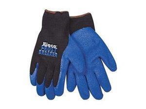 Coated Gloves, L, Black/Blue, PR