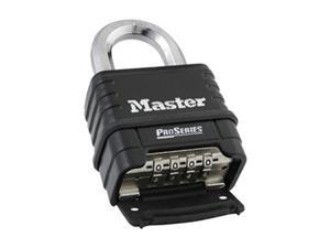 Combination Padlock, Bottom, 4 Dial, Black