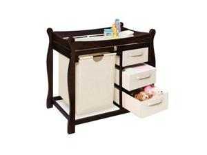 Badger Basket Sleigh Style Changing Table w/ Hamper/Baskets
