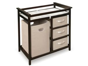 Badger Basket Modern Changing Table w/ Baskets & a Hamper