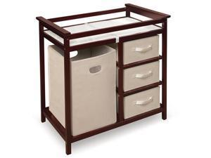 Badger Basket Modern Changing Table w/ Baskets & a Hamper