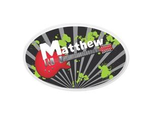 KidKraft Personalized Oval Wall Plaque - Guitar