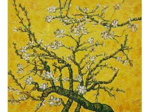 Van Gogh Paintings: Branches of an Almond Tree in Blossom (Interpretation in Yellow) - Hand Painted Canvas Art