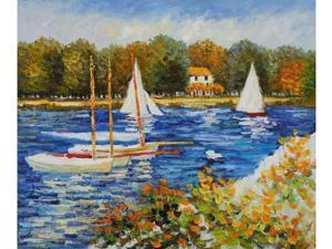 Monet Paintings: Bassin d'Argenteuil - Hand Painted Canvas Art