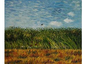 Van Gogh Paintings: Edge of a Wheat Field with Poppies and a Lark - Hand Painted Canvas Art