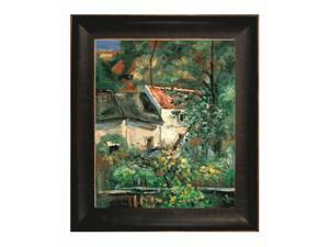 Cezanne Paintings: House of Piere La Croix with Veine D' Or Bronze Scoop - Bronze and Rich Brown Finish - Hand Painted Framed ...