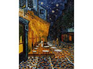 Cafe Terrace at Night - Hand Painted Canvas Art