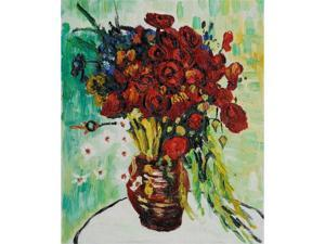 Van Gogh Paintings: Vase with Daisies and Poppies - Hand Painted Canvas Art