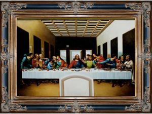 The Last Supper Pre-Framed - Hand Painted Canvas Art