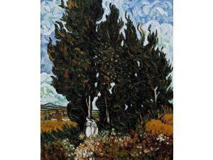 Van Gogh Paintings: The Cypresses - Hand Painted Canvas Art