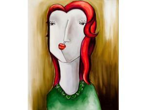 "Girl with red hair - Classic 20"" X 24""- Hand Painted Canvas Art"