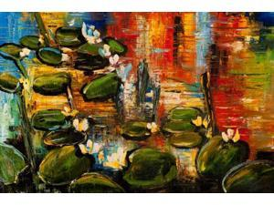 """Water Lilies - Large 24"""" X 36"""""""