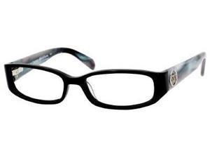 Juicy Couture Eva Eyeglasses-In Color-Black Gray Horn-Size-52/16/130