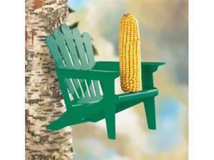 Hiatt Manufacturing Adirondack Green Chair Squirrel Feeder