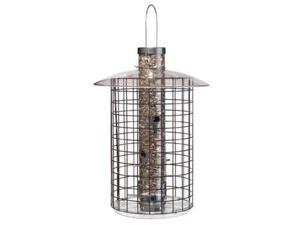 Droll Yankees, Inc Domed Cage Shelter Feeder, Black - D50B7DC