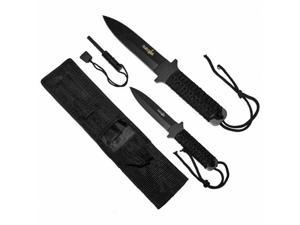Fixed Blade Stainless Steel Survival Knife Setw/ Magnesium Fire Starter
